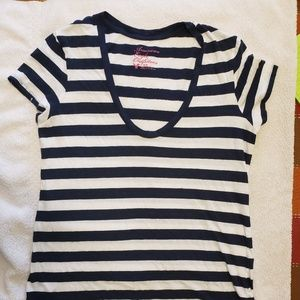 American Eagle Tee Shirt with Stripes